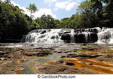 Waterfall in Bahia - Waterfall in Serra Grande, Bahia,...
