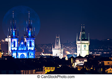 Prague Old Town,Czech Republich - View of prague rooftops...