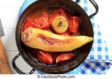 Stuffed pepper - Yellow pepper stuffed with minced meat