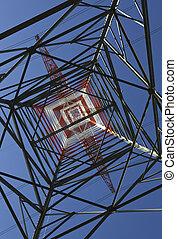 Strommast von unten gesehen