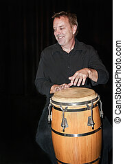 Live Percussionist - Percussionist Ren Fortier playing at...