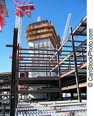 Ironworker Job Site - Different floor levels. Work is going...