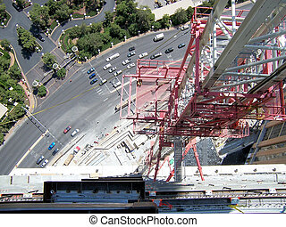 View Down From Tower Crane - This is an Ironworkers view If...