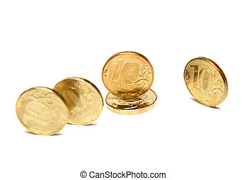 Gold Coins. Coins of ten roubles