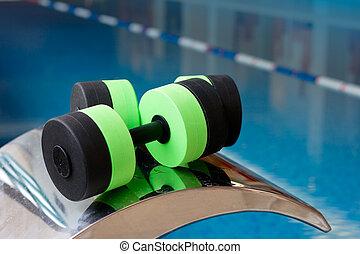 Dumbbells for Aqua Aerobics - Aqua Aerobics Dumbbells. Water...