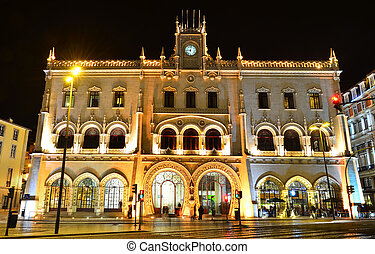 Rossio Train Station, Lisbon - The Rossio Railway Station is...