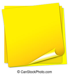 Post-it note paper on white background