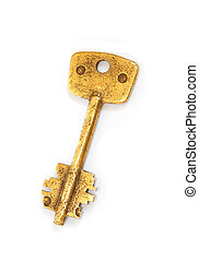 Old brass key