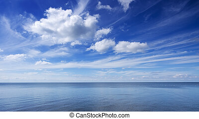 Blue sky and sea photo