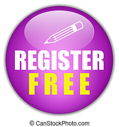 Register free button on white background