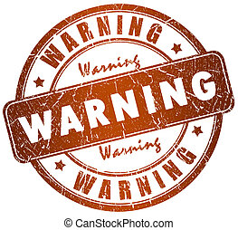 Warning stamp illustration