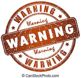 advertencia, estampilla