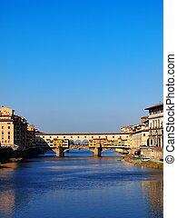 Ponte Vecchio, Florence, Italy - famous italian landmark,...