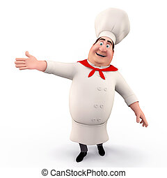 Chef pointing towards blank