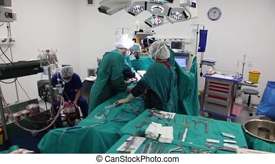 surgical series 24 - scene of an operation, steadycam shots