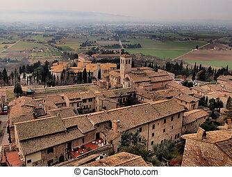 Assisi, Italy - famous italian landmark, photo was taken in...
