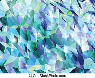 Abstract cyan background. Combination of triangle. Vector