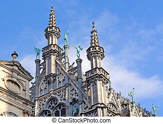 Detail of Broodhuis, museum on Market Place or Grote Markt...
