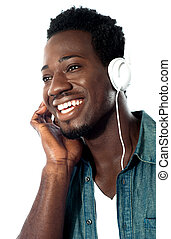 Young man with headphones