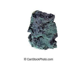 Malachite. Origin: Zaire/Kongo - studio isolated photo