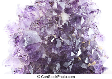 amethyst geode - natural amethyst geode with growing crystal...