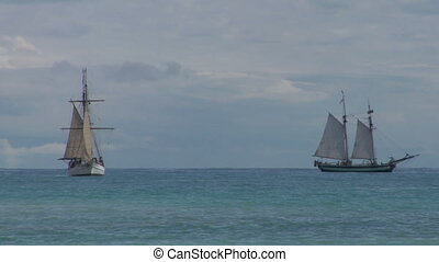 schooner battle 04 - Two sailing vessel