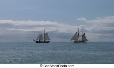 schooner battle 05 - Two sailing vessel