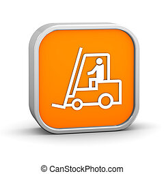 Fork lift sign on a white background. Part of a series.