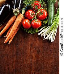 Trä, abstrakt,  design, grönsaken, bakgrund