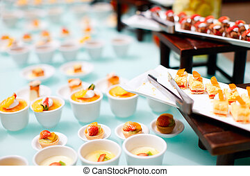 Desserts - Variety of delicious mini desserts at buffet...