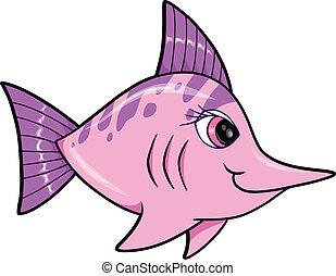 lindo, pez espada