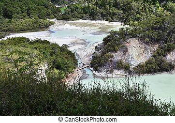 New Zealand -Travel Photos - Landscape of Wai-O-Tapu...