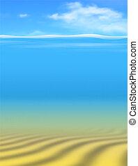 Undersea - Editable vector underwater background made using...
