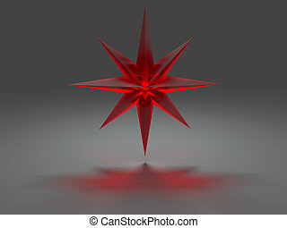 Eight-pointed star with caustic effect - Eight-pointed star...