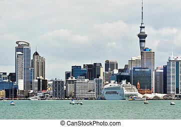 New Zealand -Travel Photos - Auckland city skyline as seen...
