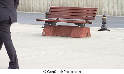 Bench in the city