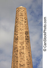 Central Park obelisk also known as Cleopatra's needle in New...