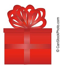 Red Wrapped Present w/Red Bow