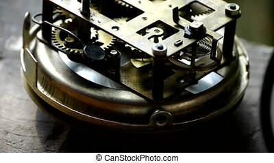 internal structure of Watch,bearings,gears.