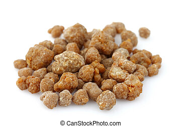 Frankincense on a white background