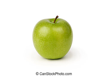 Green Apple in White background