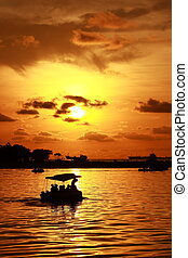 Sunset Losari - a really beautiful sunset at Losari
