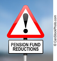 Pension fund disappointment - Illustration depicting red and...
