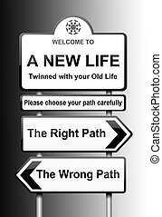 Choosing the right path.