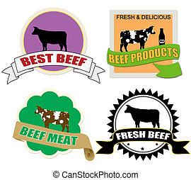 Stickers set with beef meat