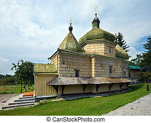 Old wood church XVII - XVIII - Old historical Ukrainian wood...