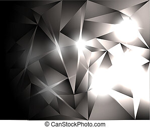 bright crystals - abstract background - bright crystals