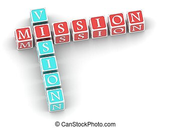 Buzzwords Mission vision - Rendered artwork with white...