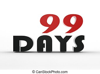 99 days - Rendered artwork with white background