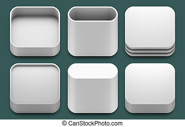App icons for iphone and ipad applications. - Set of blank...